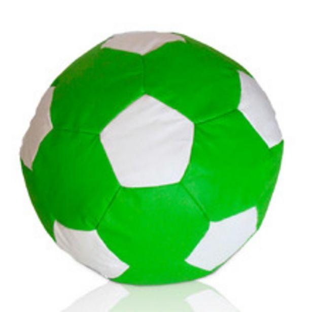 Oferta de Puff Bola De Futebol Grande - Verde/ Branco por R$205,99