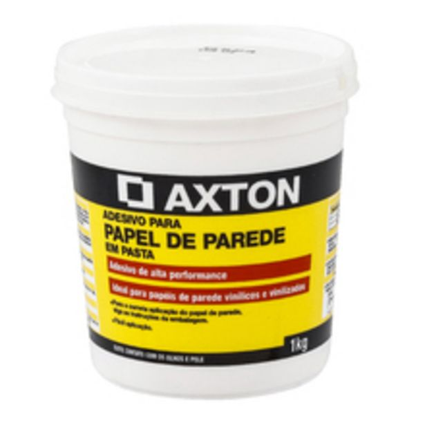 Oferta de Cola para Papel de Parede em Pasta 1Kg Axton por R$26,9