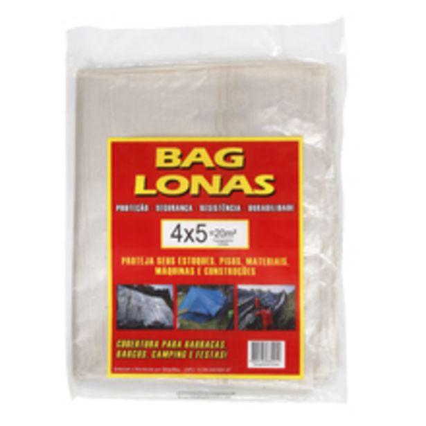 Oferta de Lona Plástica Transparente Canela 4x5m Brasil Bag por R$34,32