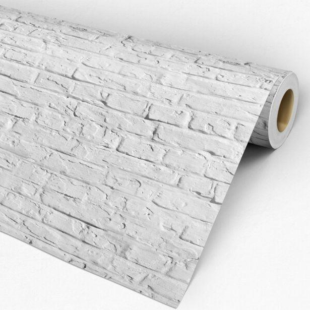 Oferta de Papel De Parede Auto-adesivo Tema Pedras E Tijolos Pppt-036 - 0 60 X 3 00m por R$59,9
