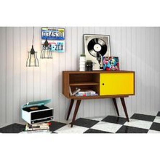 Oferta de Rack Retrô 60 - Olivar - Rustik carvalho / Amarelo por R$243,99