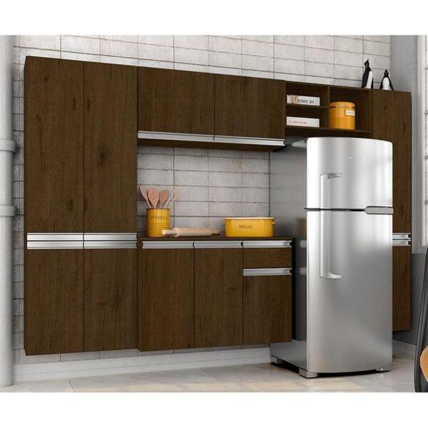 Oferta de Armário De Cozinha 5 Peças Liris Cedro - Móveis Arapongas por R$719