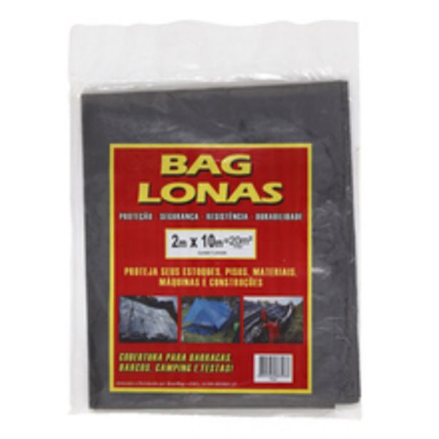 Oferta de Lona Plástica Preta 2x10m Brasil Bag por R$31,9