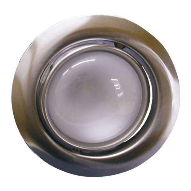 Oferta de Luminária De Teto Embutido Dirigível E-27 60w Com Lâmpada Refletora 127v Escovado por R$11,56