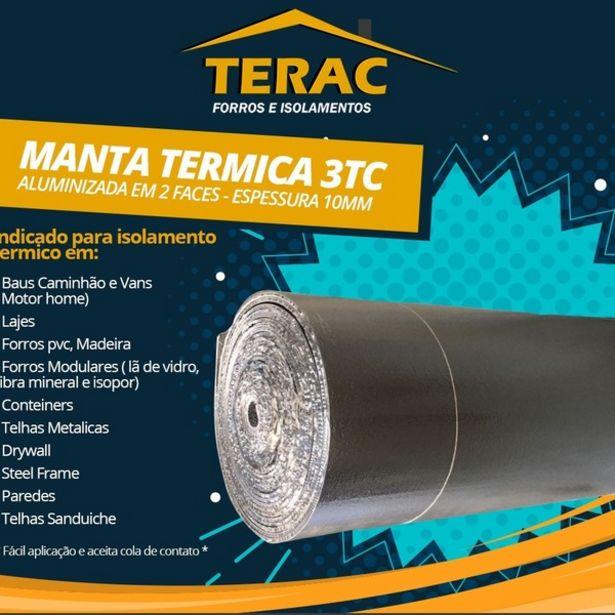 Oferta de Manta Termica 3tc 10mm 2 Lados Aluminizado 4 X 1,20m - 4,80m2 por R$156,41