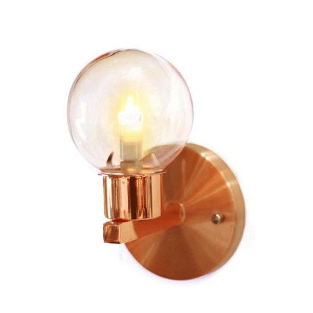 Oferta de Luminária De Parede Arandela Éros Cobre Com Vidro Âmbar Para 1 Lâmpada G9 - Eros-10 por R$102,36