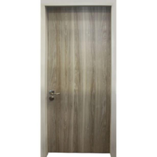 Oferta de Porta Blindada de Giro Madeira Maciça Noce California Lado Direito 2,10x0,80m Vault por R$7229,9
