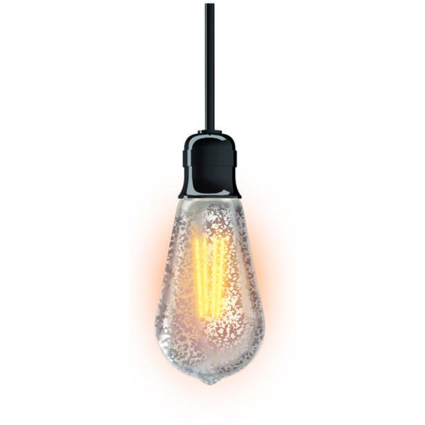 Oferta de Lâmpada LED de Filamento Pêra Luz Amarela 4W Craquelada Xanlite Bivolt por R$29