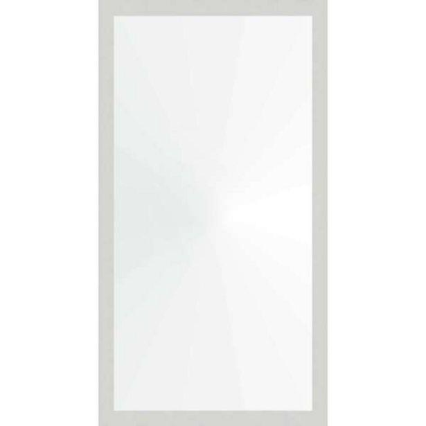 Oferta de Espelho 58x108 Moldura 4cm Reta Branca por R$115,99