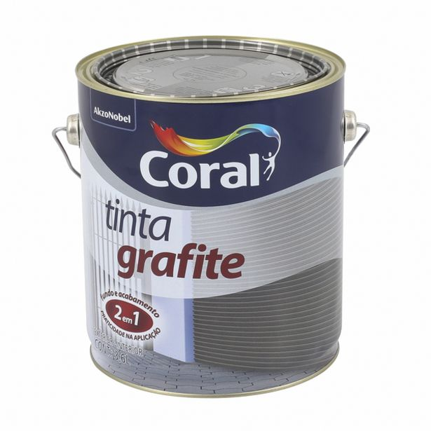 Oferta de Esmalte Sintético Tinta Grafite Fosco Grafite Escuro 3,6L Coral por R$131