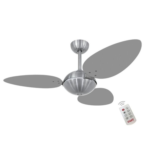 Oferta de Ventilador Volare Offpetalo Tri Titanio 220v Controle Remoto por R$1225