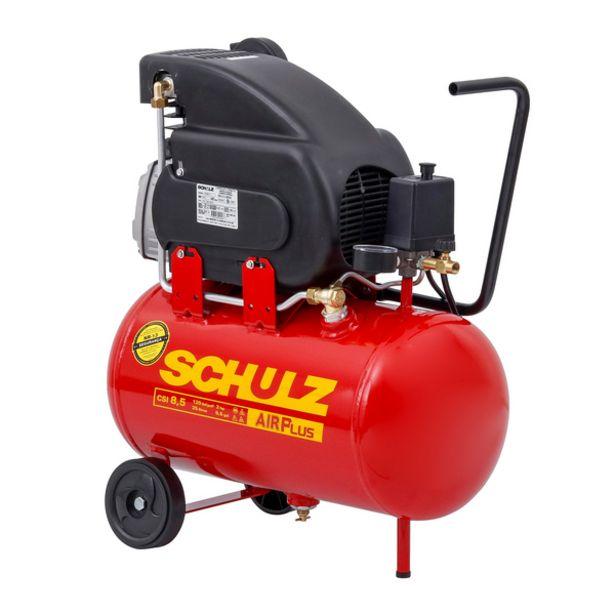 Oferta de Compressor de Ar AirPlus CSI 8,5/25L 2HP 127V (110V) Schulz por R$1024,9
