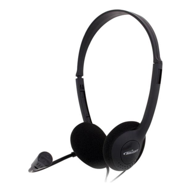 Oferta de Headset Bright 0010 Office Preto por R$37,9