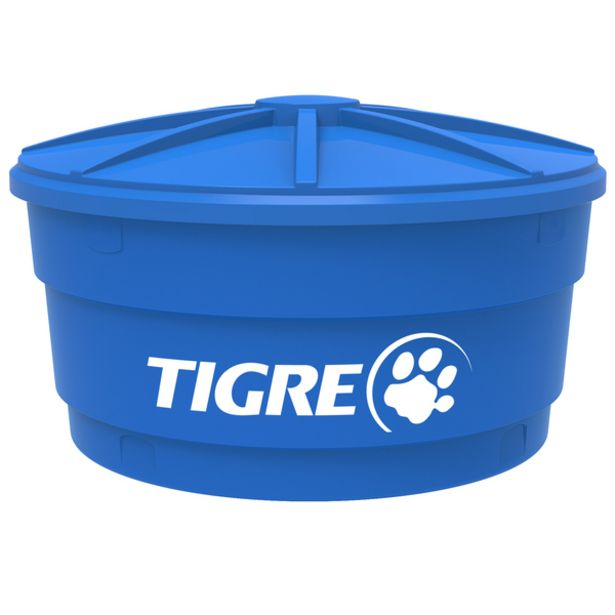 Oferta de Caixa d'água de Polietileno 1.500L Azul Tigre por R$952,9