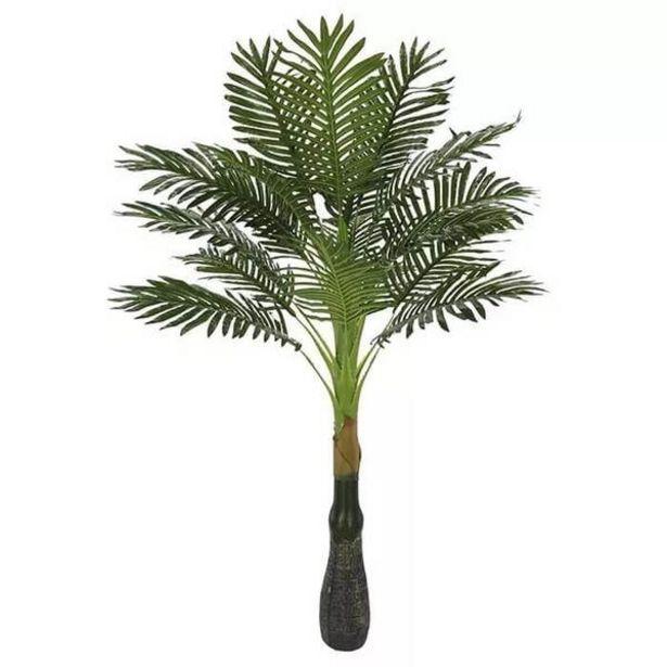 Oferta de Planta Artificial Árvore Palmeira Verde 1,2m por R$179,9