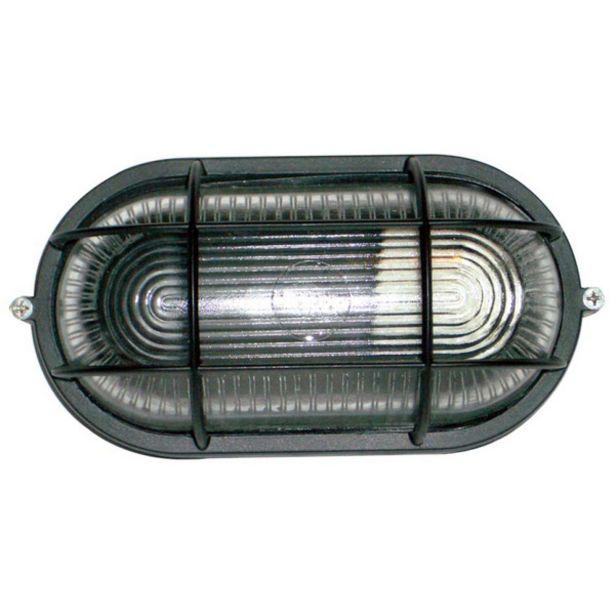 Oferta de Tartaruga Oval 20cm Aluminio Pint. Epoxi E-27 1 Lamp. Max 60w C/ Grade Preta por R$41,64