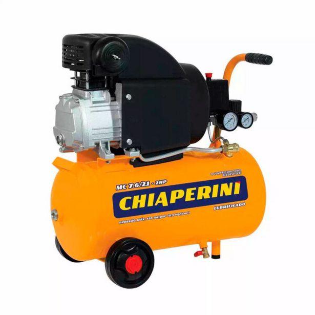Oferta de Compressor De Ar 7,6 Pés 21 Litros 2 Hp - Mc7.6/21 - Chiaperini (110v) por R$1350