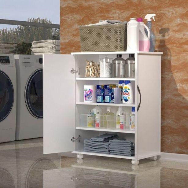 Oferta de Armário Lavanderia Multiuso Produtos De Limpeza 2 Portas por R$165,32