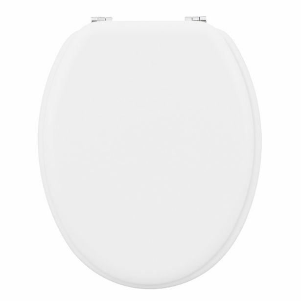 Oferta de Assento Sanitário Convencional Madeira Moldada Branco POP Sensea por R$134,9