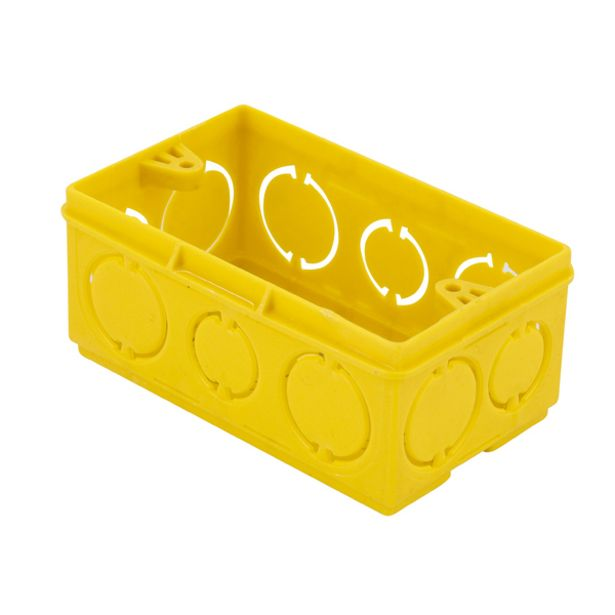 Oferta de Caixa de Luz 4x2 Retangular Amarela Tigre por R$2,9