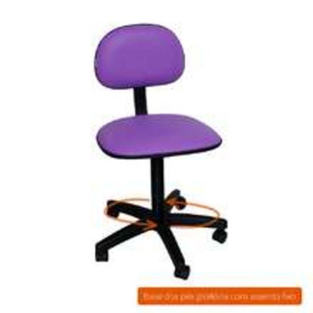 Oferta de Cadeira De Escritório Secretária Giratória Direction I Roxa por R$118,99