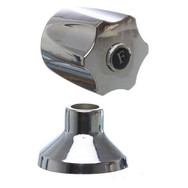 """Oferta de Acabamento Para Registro De Pressão E Gaveta Metal Cromado 1/2"""" E 3/4"""" C50 por R$17,9"""