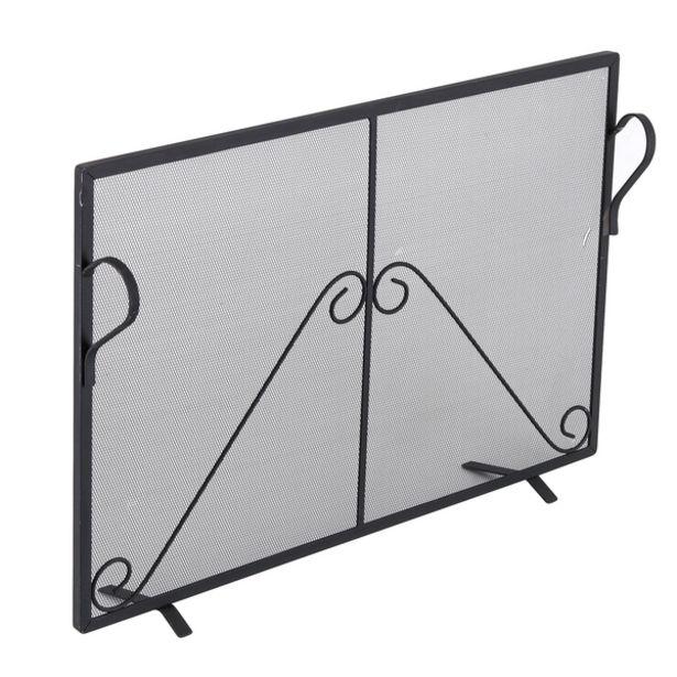 Oferta de Tela de Proteção para Lareira Reta Pequena Preto 76x52cm Artmill por R$298,99