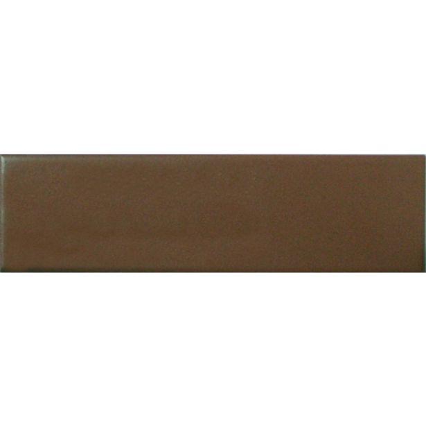 Oferta de Revestimento Externo Acetinado Mattone Chocolate 6,5x25,6cm Pierini por R$36,5