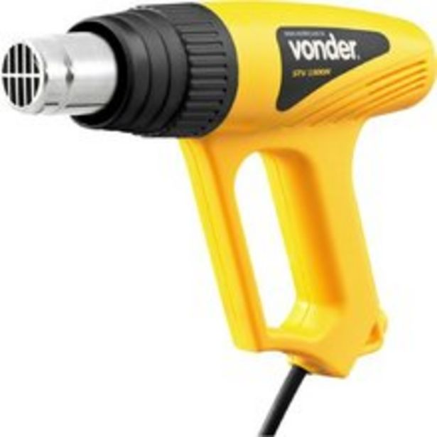 Oferta de Soprador térmico 1500 watts com temperatura de 300 a 500 o.C - STV1500N - Vonder (220V) por R$179,9