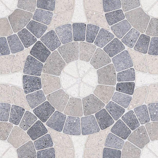 Oferta de Piso Cerâmico Externo Decorado Esmaltado Borda Arredondada Mosaico Blue 51,5x51,5cm Ceral por R$24,2