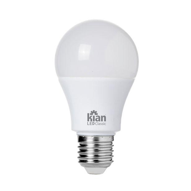 Oferta de Lâmpada LED Bulbo Luz Amarela 6W Kian Bivolt por R$7