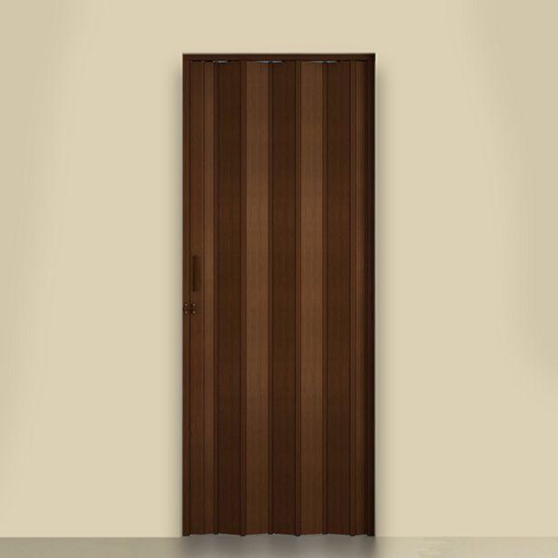 Oferta de Porta Sanfonada Lisa PVC Imbuia 2,10x0,96m Artens por R$242,9