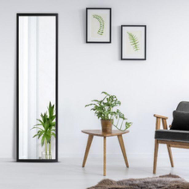Oferta de Espelho Color Preto 48x164cm por R$119,9