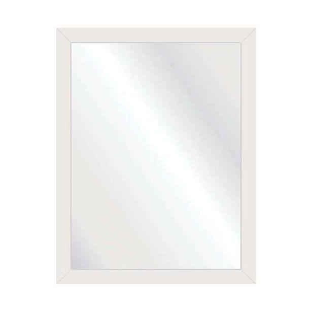 Oferta de Espelho Decorativo Contemporâneo 35x45 Branco por R$65,99