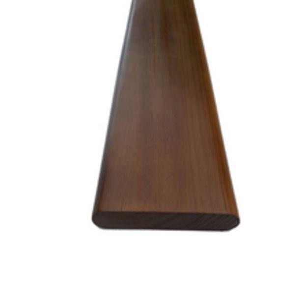 Oferta de Corrimão Liso Madeira Padrão Imbuia 14x300cm Tarimatã por R$103,9