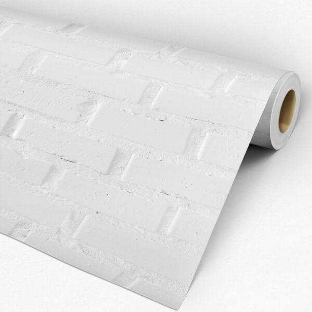 Oferta de Papel De Parede Auto-adesivo Tema Pedras E Tijolos Pppt-037 - 0 60 X 1 50m por R$39,99