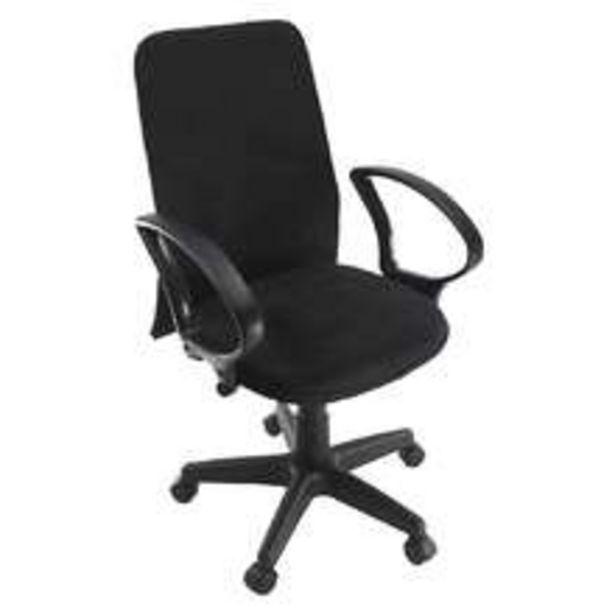 Oferta de Cadeira De Escritório Diretor Suede Ajustável Preta por R$406,99