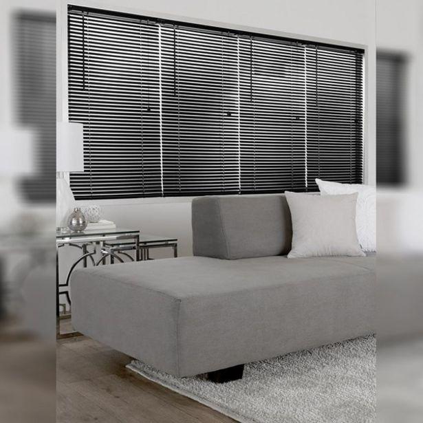 Oferta de Persiana Horizontal PVC Block Preta 1,40x1,60m por R$203,26