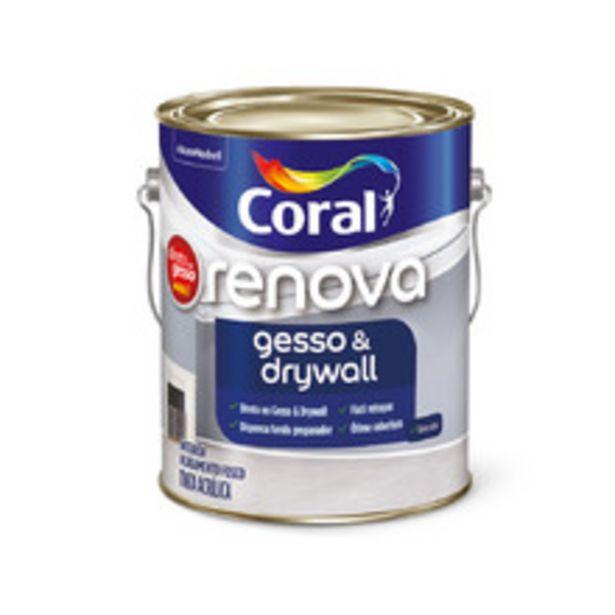 Oferta de Renova Gesso & Drywall Branco 3,6L Coral por R$74,9