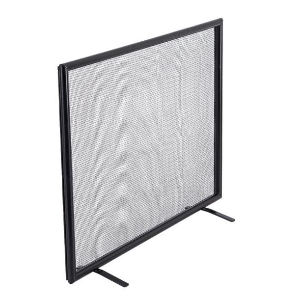 Oferta de Tela de Proteção para Lareira Reta Tubular Médio Preto 70x50cm Artmill por R$458,99