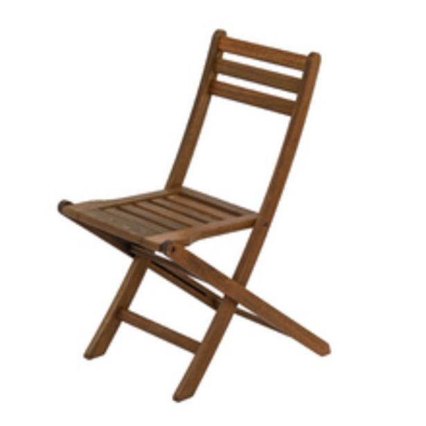 Oferta de Cadeira Madeira Ipanema 83x44cm Marrom Ipanema por R$255,9