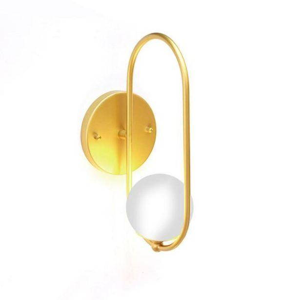 Oferta de Arandela Para Salas E Quartos Elipse Tipo Luna Dourada Com Globo Leitoso Para 1 Lâmpada G9 Bivolt por R$169