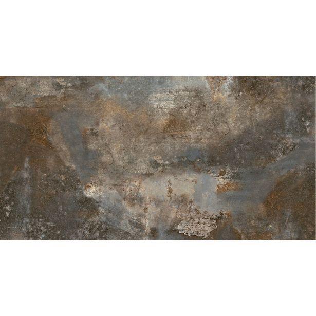 Oferta de Piso Cerâmico Externo Pedra Esmaltado Borda Reta Natura Pedra Ferro 38x74cm Savane por R$42,2
