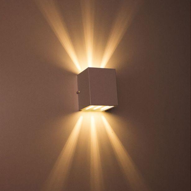 Oferta de Arandela de efeito 6 fachos branca luminária externa e interna st566 por R$30,6