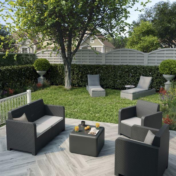 Oferta de Conjunto para Jardim Plástico  Novo 4 peças Cinza Naterial por R$2099,9