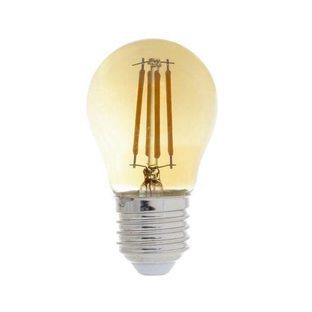 Oferta de Lâmpada LED de Filamento Bolinha Luz Amarela 4W Gaya 127V (110V) por R$18,9