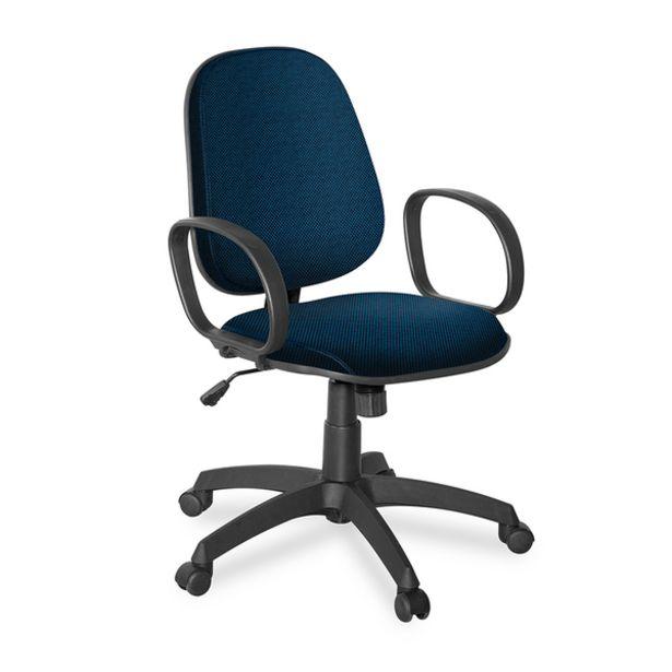 Oferta de Cadeira Giratoria Gerente Braço Corsa Azul/preto por R$685,59