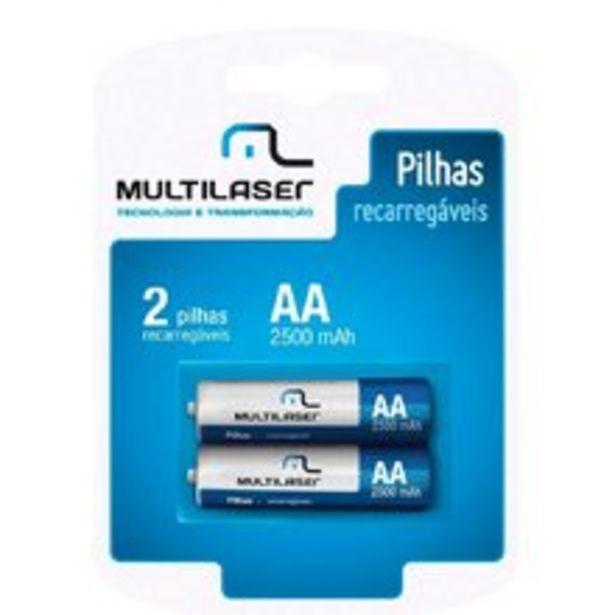 Oferta de Pilhas Recarregáveis Aa Multilaser Com 2 Unidades - Cb053 por R$29,9