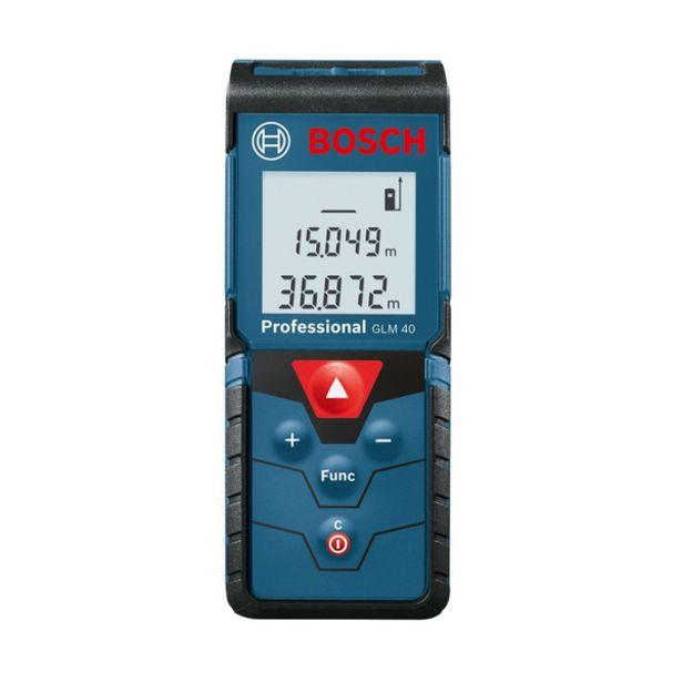 Oferta de Trena a Laser GLM 40 Alcance de 40m e com Bolsa Protetora Bosch por R$357,9