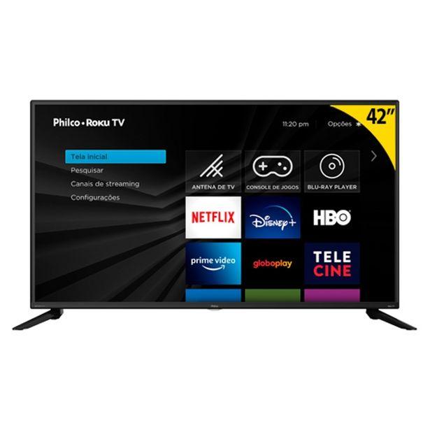 """Oferta de Smart Tv Philco PTV42G52RCF LED 42"""" Quad-Core 3 HDMI 2 USB Preto por R$1999,2"""